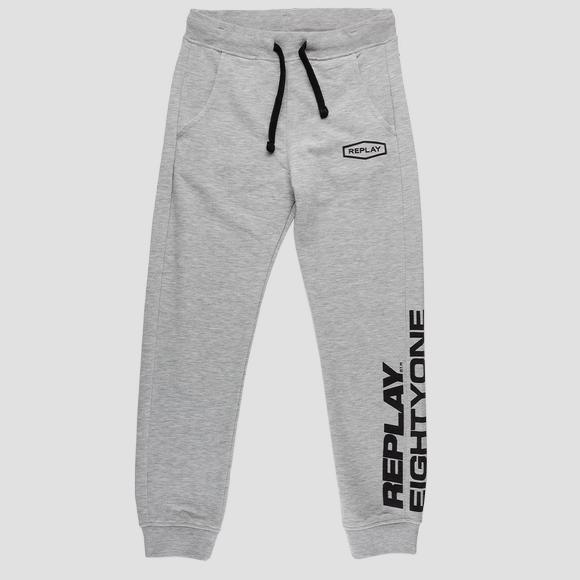 Slim fit fleece trousers- REPLAY&SONS SB9380_052_22739_M04_1