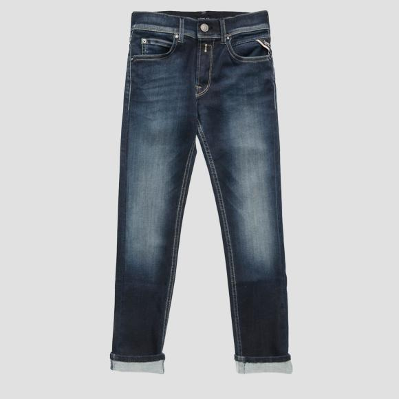 Super slim fit Hyperflex jeans- REPLAY&SONS SB9385_051_661-02D_007_1