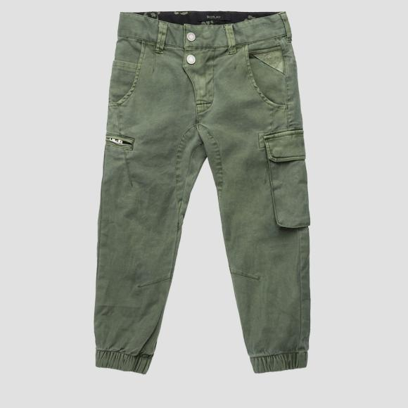 Multi-pockets cargo pants- REPLAY&SONS SB9392_050_80655_806_1