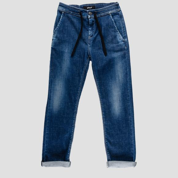 Replay jeans with drawstring- REPLAY&SONS SB9397_050_115-230_001_1