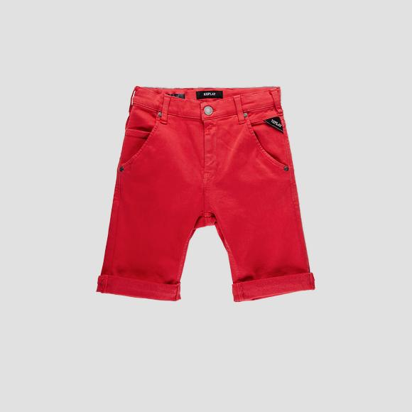 Slim fit Hyperflex short pants- REPLAY&SONS SB9628_051_8166197_410_1