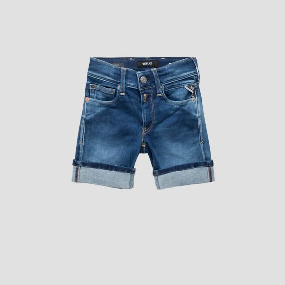 Shorts en denim Hyperflex- REPLAY&SONS SB9635_050_661-332_009_1