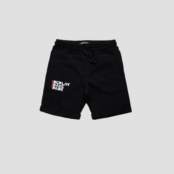 REPLAY RACE PARK fleece shorts- REPLAY&SONS SB9638_051_22739_098_1