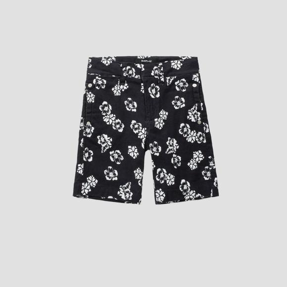 Shorts with floral print- REPLAY&SONS SB9642_050_80655KC_010_1