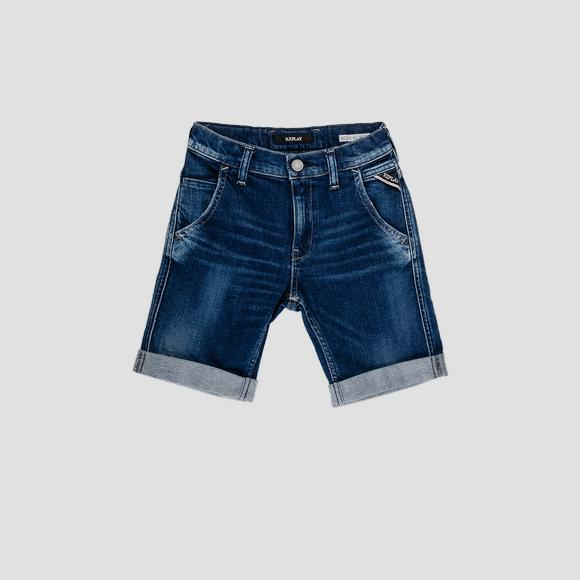 Denim short pants with five pockets- REPLAY&SONS SB9644_051_223-230_001_1