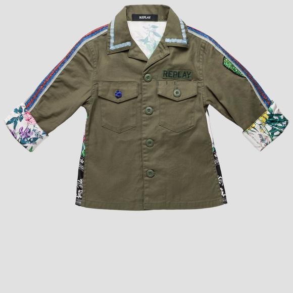 Two-tone army shirt- REPLAY&SONS SG1060_050_80655_531_1