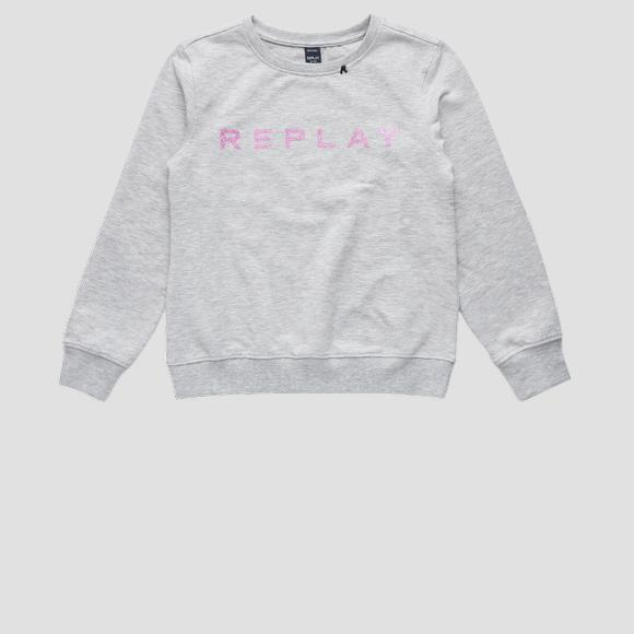Sweatshirt with REPLAY print- REPLAY&SONS SG2059_010_20238_M04_1
