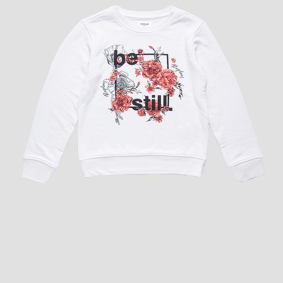 REPLAY BE STILL crewneck sweatshirt- REPLAY&SONS SG2059_063_23154_001_1