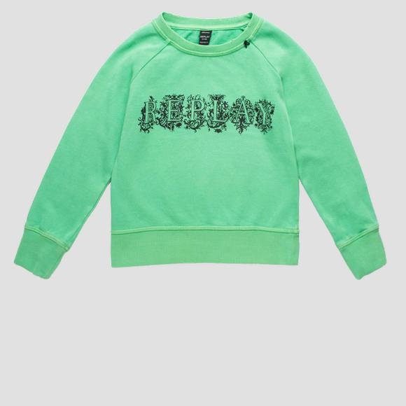 REPLAY writing sweatshirt with print- REPLAY&SONS SG2083_052_20236_830_1