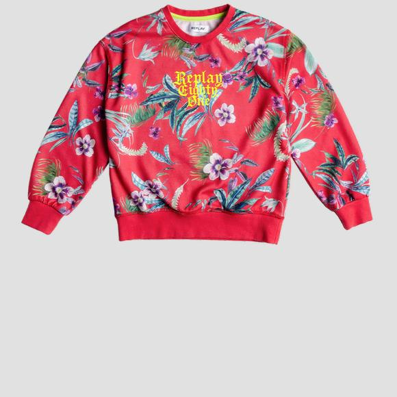 Floral REPLAY sweatshirt- REPLAY&SONS SG2095_050_29868KI_814_1