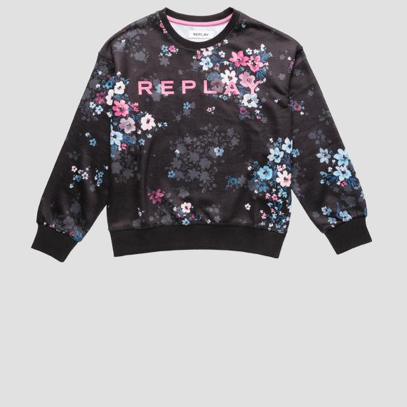 Crewneck sweatshirt with all-over print- REPLAY&SONS SG2095_052_29868KD_010_1
