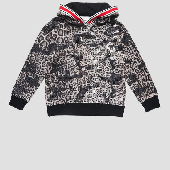 Sweatshirt with animalier print- REPLAY&SONS SG2409_050_29868KB_010_1