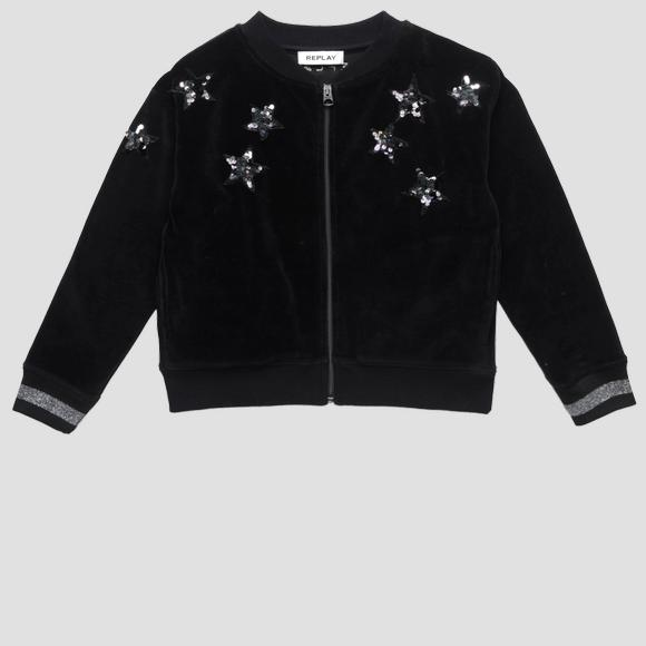 Sweatshirt with stars and glitter detail- REPLAY&SONS SG2410_050_20610_098_1
