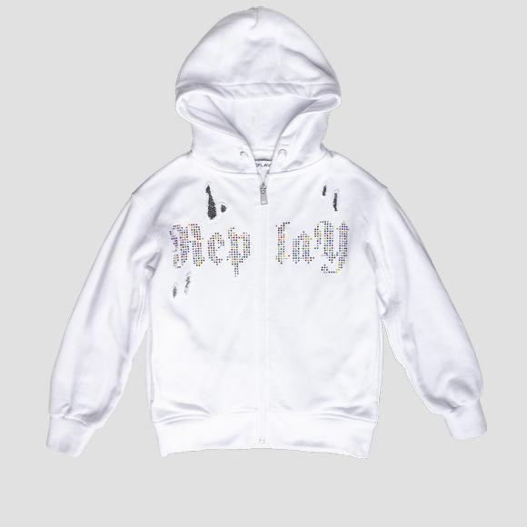 Hoodie with rhinestones- REPLAY&SONS SG2413_051_22852_001_1