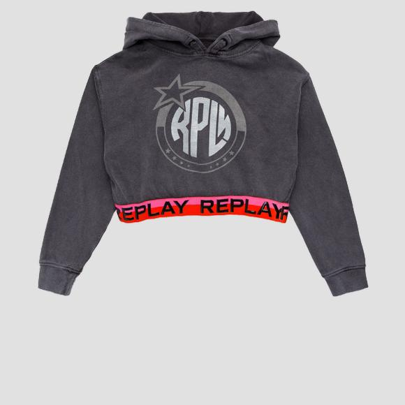 Crop REPLAY-Sweatshirt mit Kapuze- REPLAY&SONS SG2421_051_22990_099_1