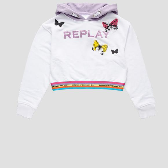 REPLAY NOT ORDINARY GIRL sweatshirt- REPLAY&SONS SG2421_052_23154_001_1