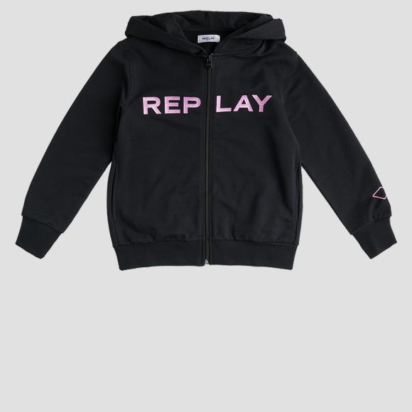 Hoodie with glitter print- REPLAY&SONS SG2427_020_20238_098_1