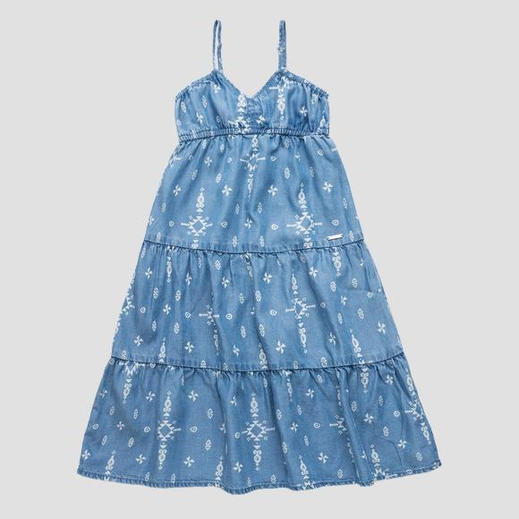 Dress printed with micro drawings- REPLAY&SONS SG3168_050_50103KM_001_1