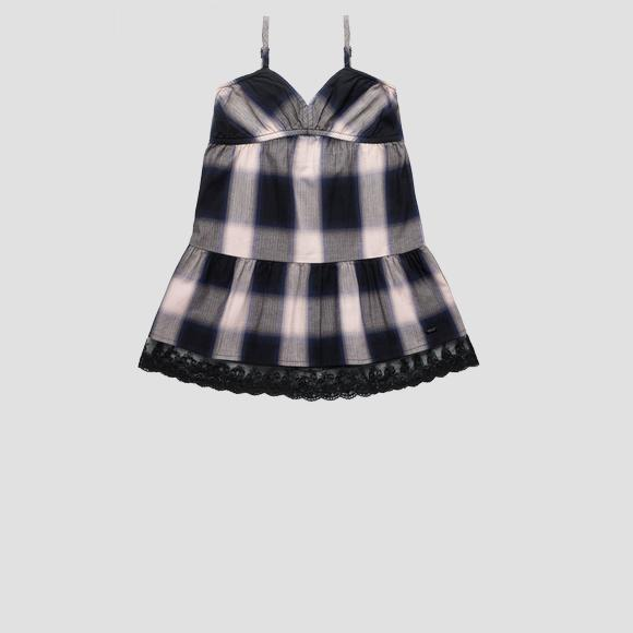 Dress with checked print- REPLAY&SONS SG3172_050_52112_010_1