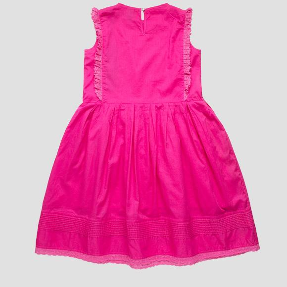 Sleeveless dress with ruffles- REPLAY&SONS SG3176_050_70452_514_1