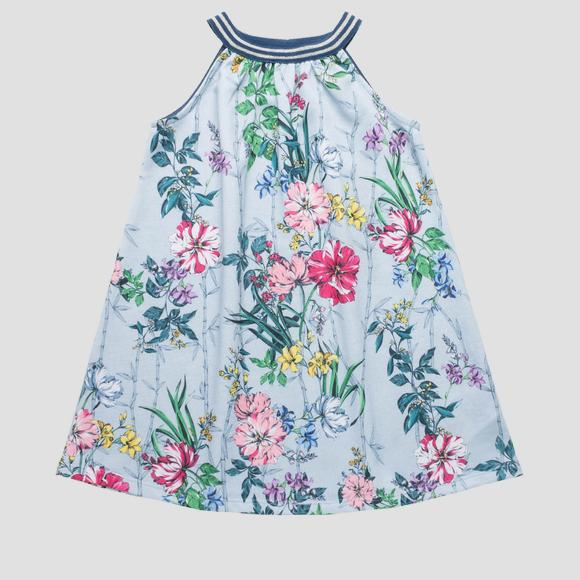 Sleeveless dress with floral print- REPLAY&SONS SG3181_050_29868KT_010_1