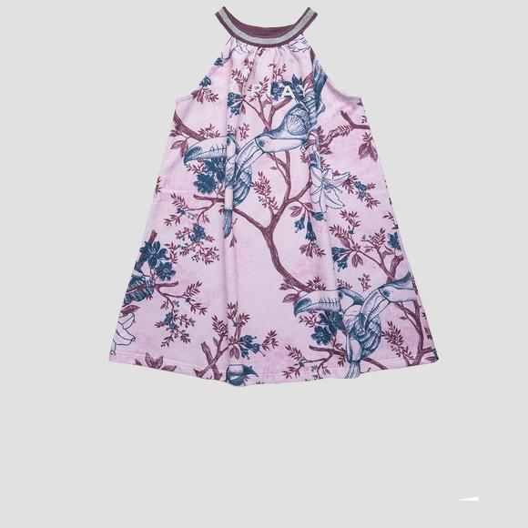 Sleeveless dress with all-over print- REPLAY&SONS SG3181_051_29868KB_020_1