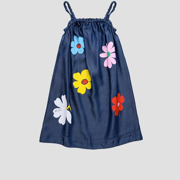 Sleeveless dress with flowers- REPLAY&SONS SG3217_050_50103_001_1