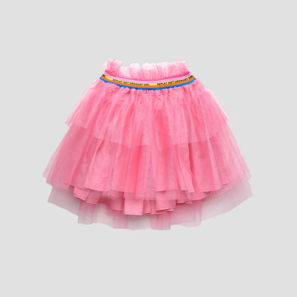 Tulle pleated skirt with frills- REPLAY&SONS SG4474_050_80004_307_1