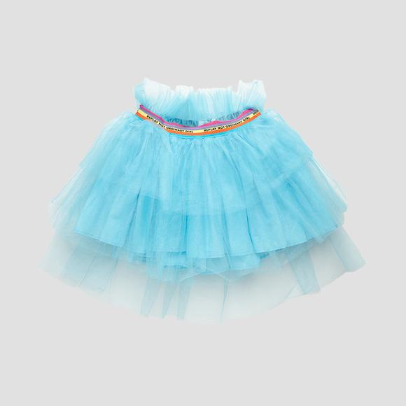 Tulle pleated skirt with frills- REPLAY&SONS SG4474_050_80004_489_1