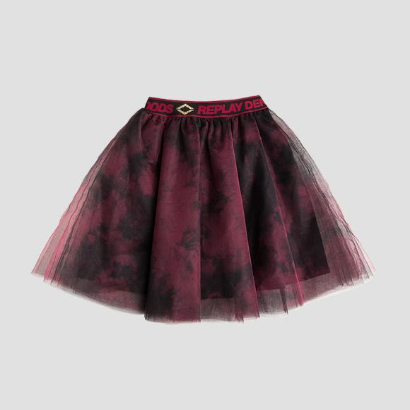 Frilled tulle tie dye skirt- REPLAY&SONS SG4479_050_80004_010_1