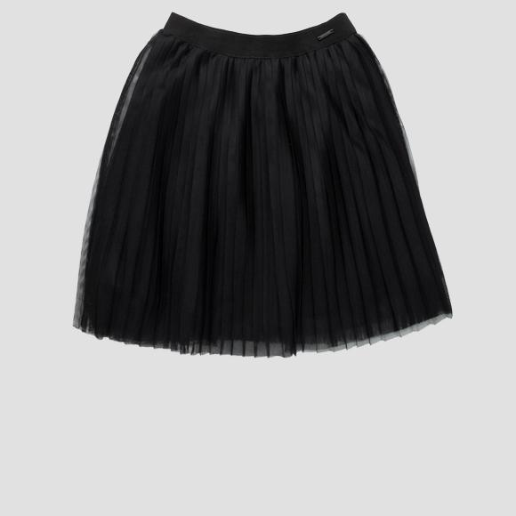 Skirt in pleated tulle- REPLAY&SONS SG4713_050_80004_098_1