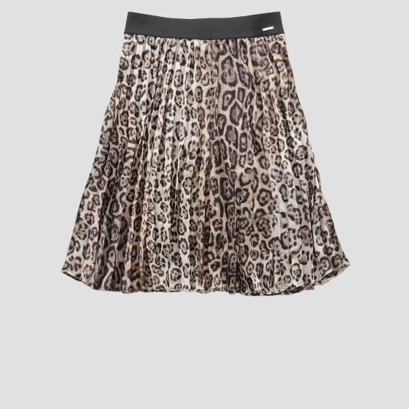 Animalier midi skirt- REPLAY&SONS SG4714_050_83544KR_010_1