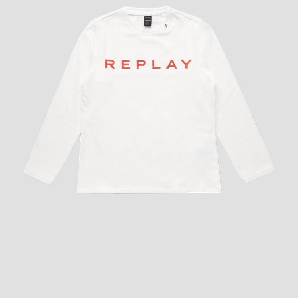 Jersey t-shirt with REPLAY print- REPLAY&SONS SG7091_010_20230_012_1