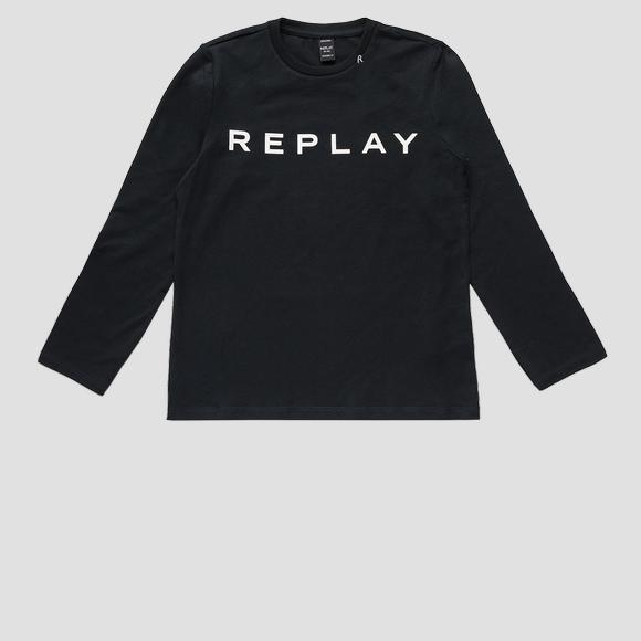 Jersey t-shirt with REPLAY print- REPLAY&SONS SG7091_010_20230_397_1