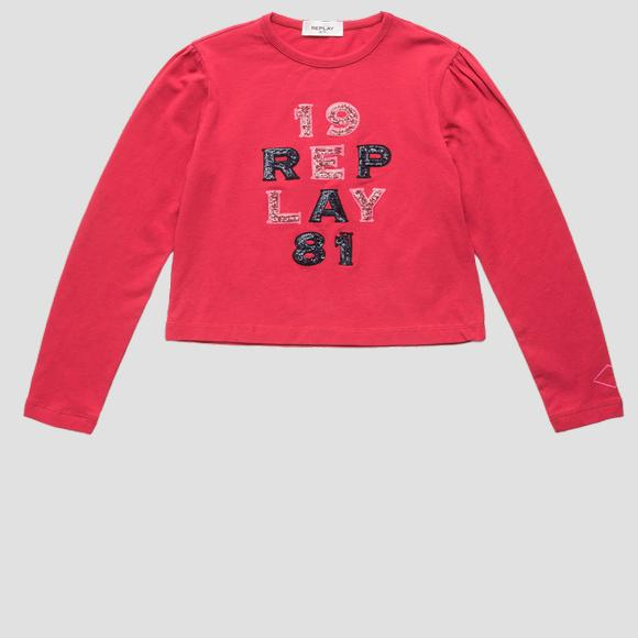T-shirt crop con paillettes REPLAY 1981- REPLAY&SONS SG7140_051_22973_655_1
