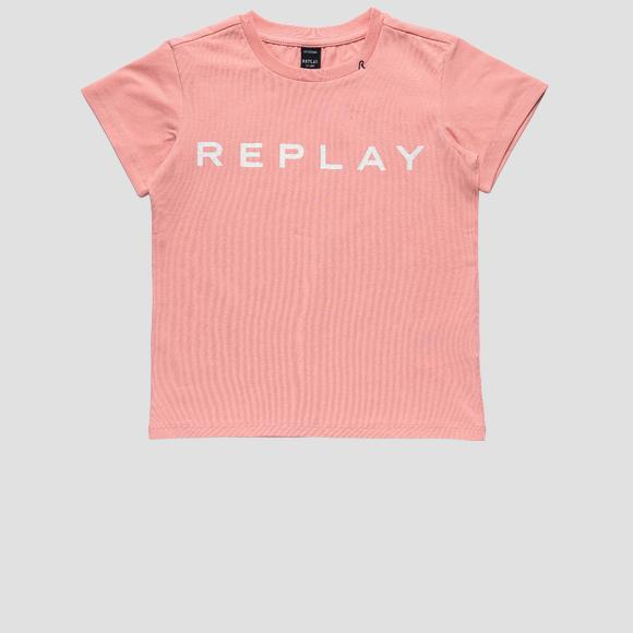 Jersey t-shirt with REPLAY glitter print- REPLAY&SONS SG7479_010_20230_460_1