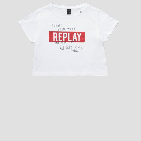 T-shirt avec inscription- REPLAY&SONS SG7480_050_20994_001_1