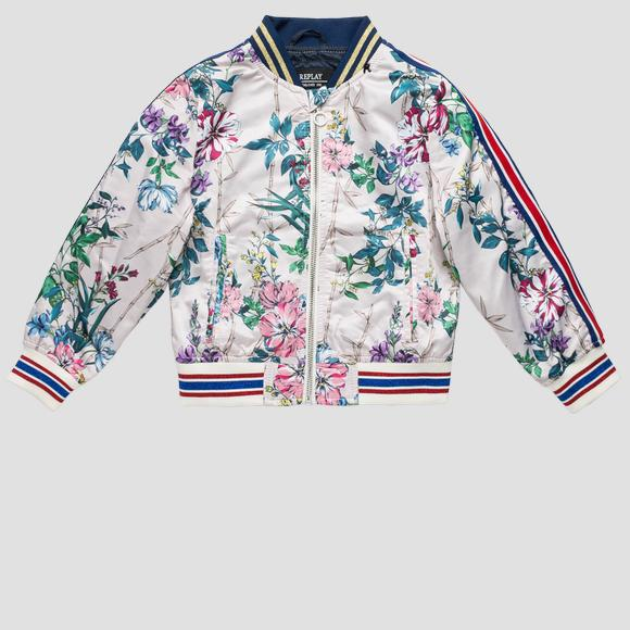 Bomber jacket with floral print- REPLAY&SONS SG8196_050_83306KG_010_1