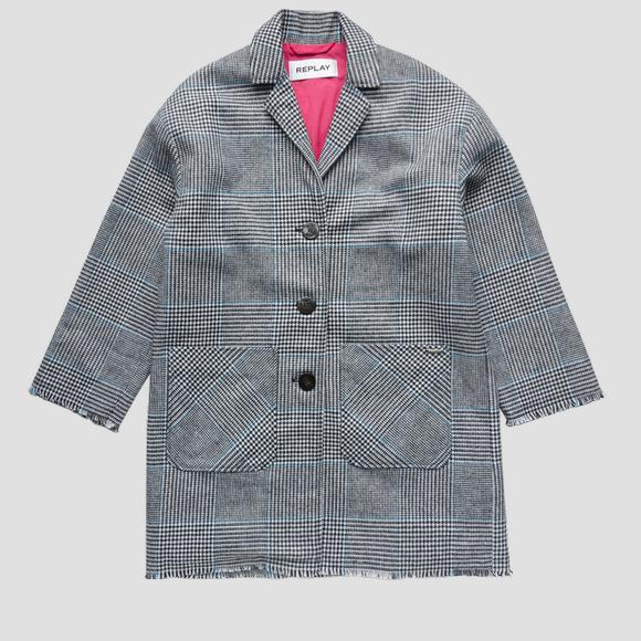 Manteau motif carreaux- REPLAY&SONS SG8221_050_83566_010_1