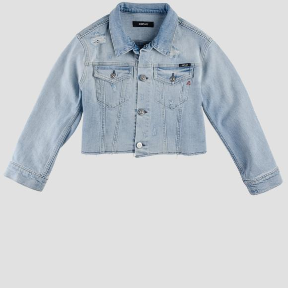 Denim jacket with sequins- REPLAY&SONS SG8233_050_223-665_001_1