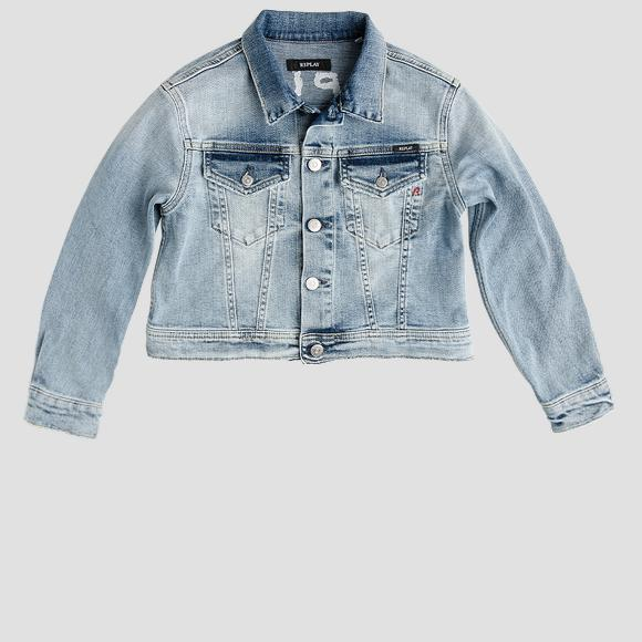 Denim jacket with REPLAY print- REPLAY&SONS SG8252_050_455-334_001_1