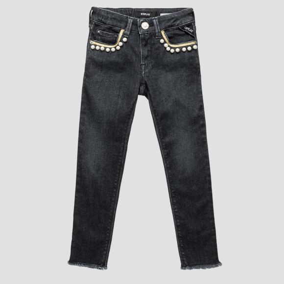 Skinny fit jeans with appliques- REPLAY&SONS SG9318_050_75C-425_001_1