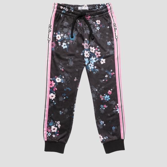 Trousers with all-over floral print- REPLAY&SONS SG9320_051_29868KD_010_1
