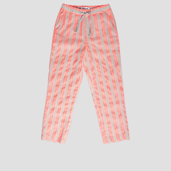 Trousers with fluorescent stripes- REPLAY&SONS SG9331_050_52296_010_1