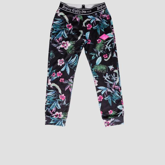 Floral trousers with pockets- REPLAY&SONS SG9333_050_29868KI_098_1