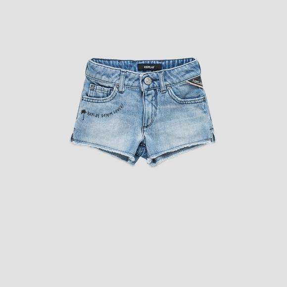 Denim shorts with writing- REPLAY&SONS SG9569_053_100-445_001_1