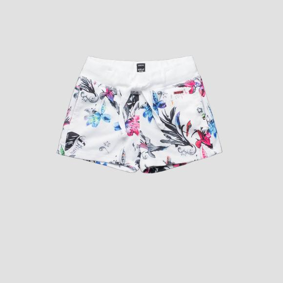 Shorts with floral print- REPLAY&SONS SG9575_050_29868KS_010_1