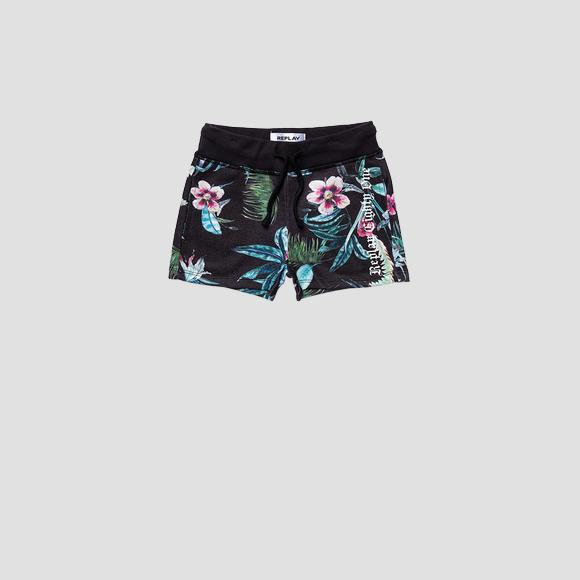 Shorts with floral print- REPLAY&SONS SG9575_051_29868KI_098_1