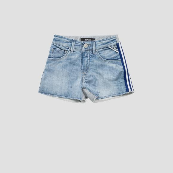 Fleece and denim shorts- REPLAY&SONS SG9576_050_1025134_001_1