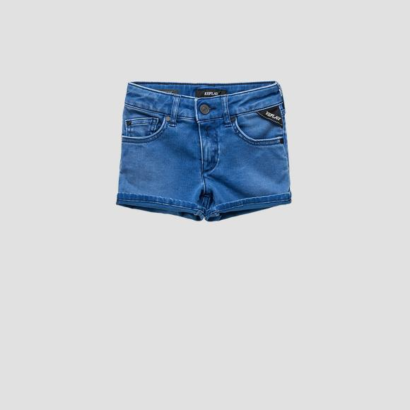 Shorts en denim Hyperflex- REPLAY&SONS SG9581_050_661-DI2_007_1